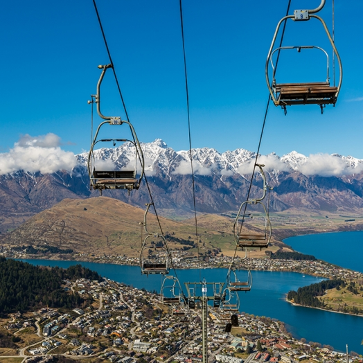 Die Skyline Gondola ist ein Highlight in Queenstown; Copyright naruedom